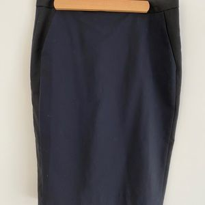 Pure Navy Black and Blue Pencil Skirt size 4